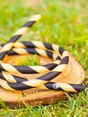 Striped - Black- Gold